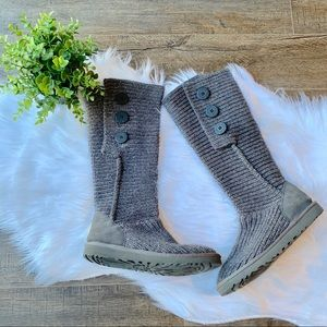 UGG knit cardy boots